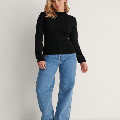 NA-KD – Hi neck Sweater – Black