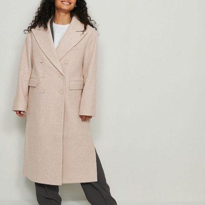 NA-KD – Oversize Jacket – Beige