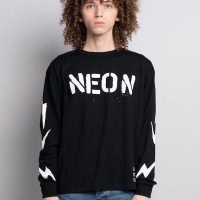 Neon Denim – Neon LS Tee – Black