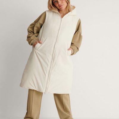NA-KD – Oversize Vest – Off white