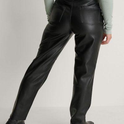 NA-KD – PU Pants – Black