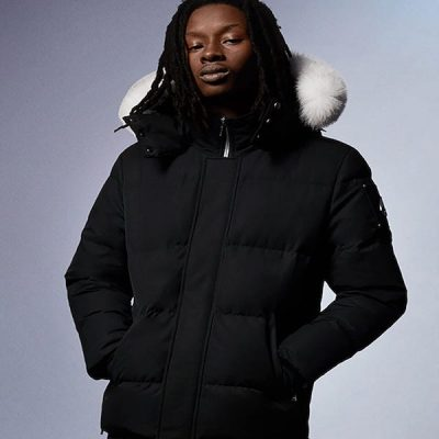 Moose Knuckles – Richardson Jacket – Black w/ White Fur