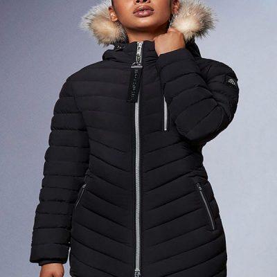 Moose Knuckles – Roselawn 3 Jacket – Black w/ Crystal Fur