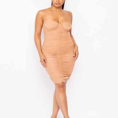 HD – Ruffle Dress – Nude