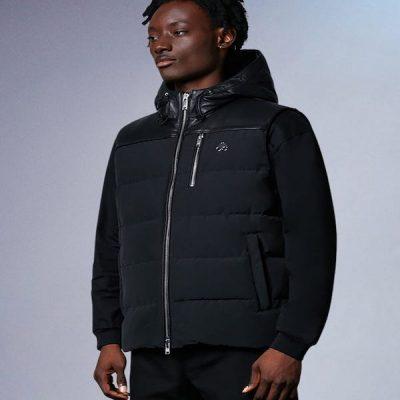 Moose Knuckles – White Mud Leather Vest – Black
