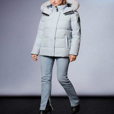 Moose Knuckles – Astoria – Arctic Ice w/ White fox fur