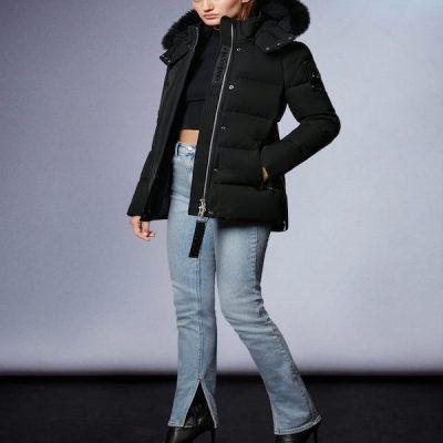 Moose Knuckles – Astoria 3q Parka – Black w/ Black Fur