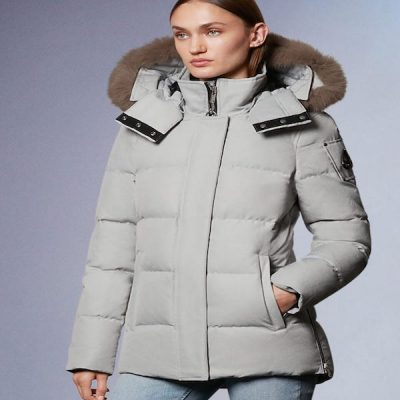 Moose Knuckles – Astoria 3q parka – Ice berg w/ Stoned Fur