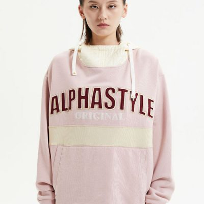 Alpha Style – Brock Quilted Hoodie – Pink
