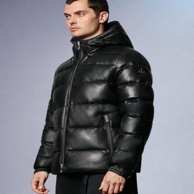 Moose Knuckles – Keg River Leather Puffer – Black