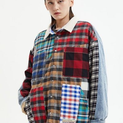 Alpha Style – Melvin Patchwork Button up – Multi